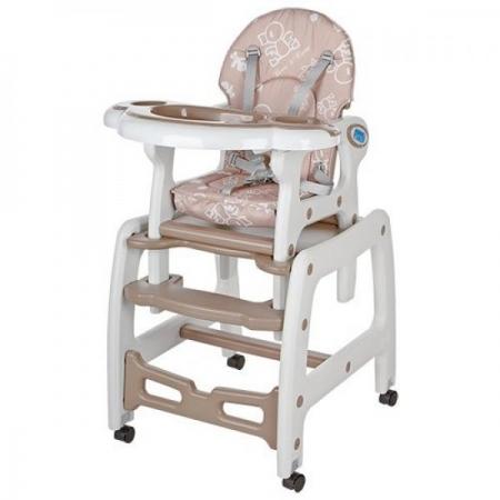 Стульчик для кормления, трансформер 3в1 (стульчик для кормления/столик+стульчик/качалка), BAMBI M 1563-13 бежевый