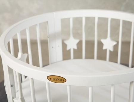 Круглая кроватка - трансформер SMART BED ROUND 9-в-1