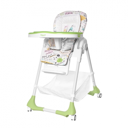 Высокий стульчик для кормления с регулируемой спинкой Tilly Bistro T-641/2 Green