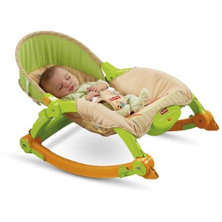 Детское  кресло-качалка Fisher Price ЛЯГУШОНОК Infant-to-Toddler Rocker (люкс-класс)