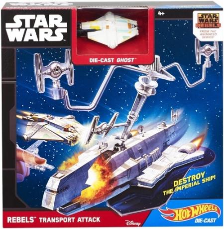 Трек Hot Wheels Транспортник Звездных повстанцев (Star Wars Starship Rebels Transport)