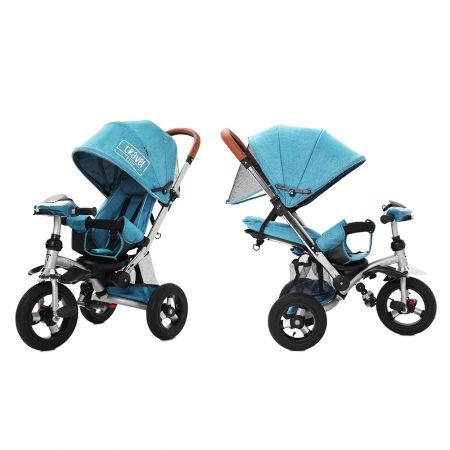 Велосипед триколісний TILLY TRAVEL T-387 Бірюзовий льон/1/