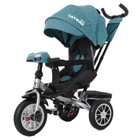 Велосипед триколісний TILLY CAYMAN з пультом і посиленою рамою T-381/4 Бірюзовий льон /1/