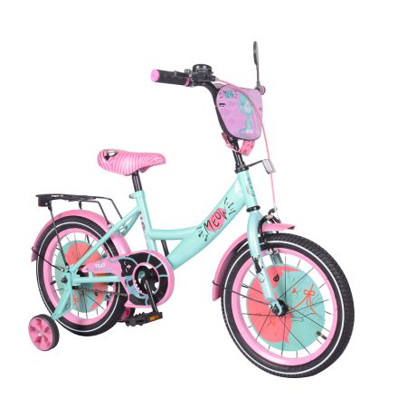 """Велосипед TILLY Meow 16"""" T-216218/1 azure+pink /1/"""