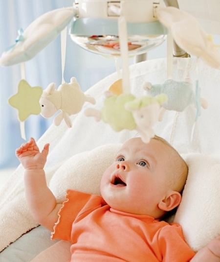 Укачивающий центр  (кресло-качели) «Мой маленький ягненок» Fisher Price My Little Lamb
