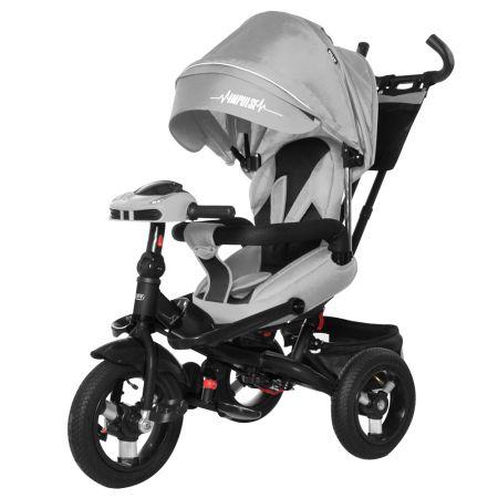 Велосипед триколісний TILLY Impulse з пультом і посиленою рамою T-386/1 Сірий льон/1/