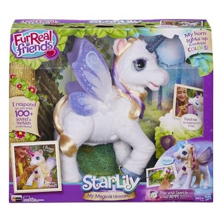 FurReal Friends Starlily мой волшебный интерактивный единорог Старлили, Hasbro США