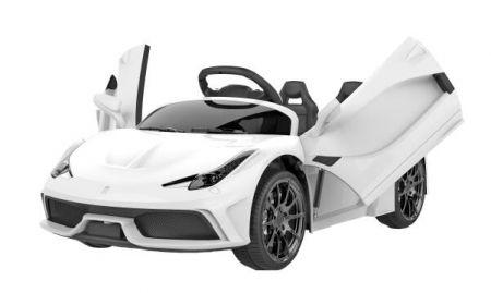 Ел-мобіль T-7659 EVA WHITE легковий на Bluetooth 2.4G Р/У 2*6V4,5AH мотор 2*25W з MP3 114*70*45 /1/