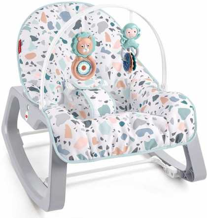 Детский шезлонг - кресло-качалка Fisher Price Незабываемое качание Фишер прайс ОРИГИНАЛ США