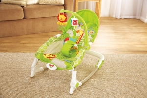 Детское кресло-качели  Fisher Price от 0 до 18 кг  Львенок (люкс-класс)