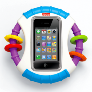 Детский чехол погремушка Fisher Price для Айфона Laugh & Learn™ Apptivity™ Case for iPhone® devices