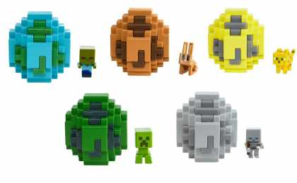 Яйцо призывания с мини-фигуркой моба Minecraft в асс.
