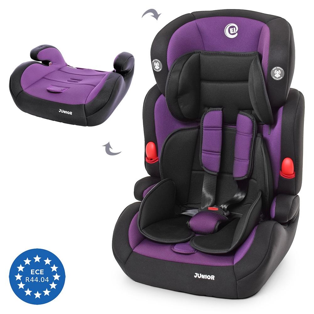 Детское автокресло 2в1, группа 1/2/3 (9-36кг) El Camino Junior, ME 1008 Purple