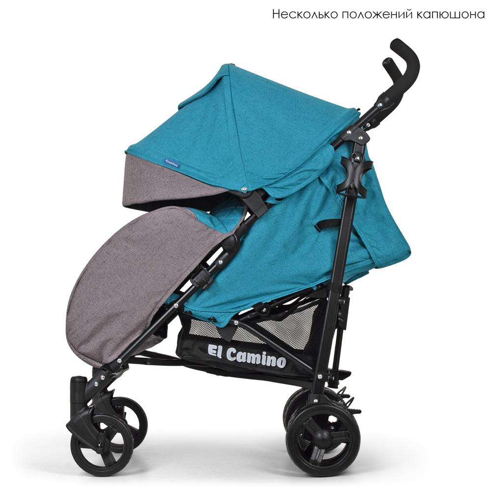 Детская прогулочная коляска El Camino Rush, ME 1013L Turquoise
