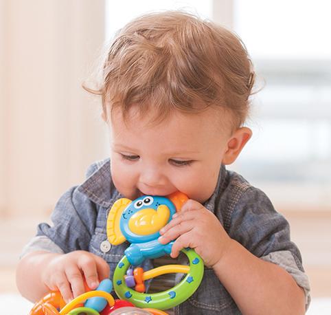Погремушка с прорезывателями Слоненок Infantino