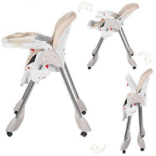 Стульчик для кормления, регулируется спинка, Bambi M 3216-13 бежевый