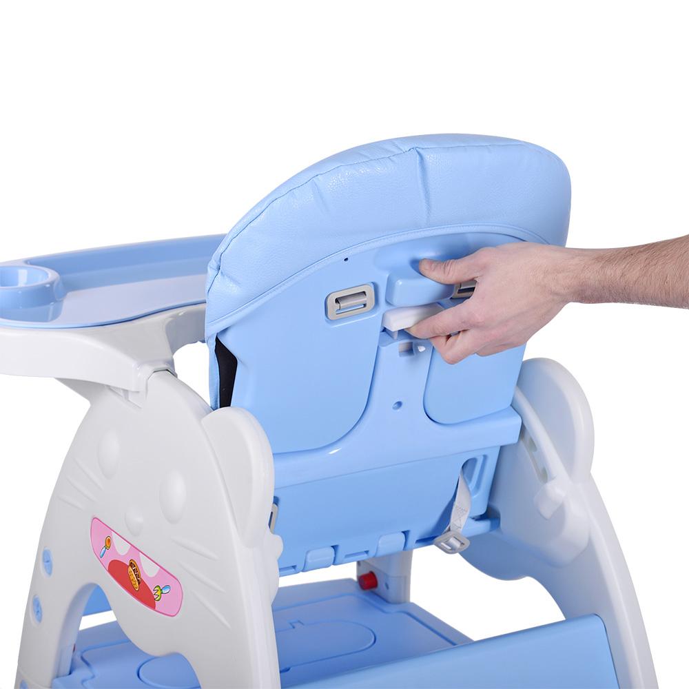 Стульчик для кормления - трансформер 2в1 Bambi M 3612-12 голубой