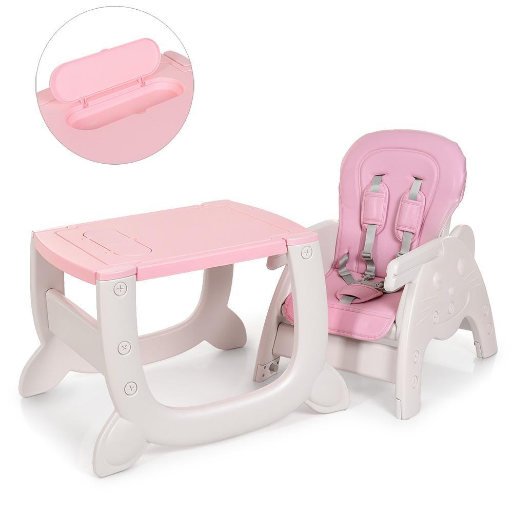 Стульчик для кормления - трансформер 2в1 Bambi M 3612-8 розовый