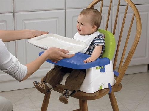 Детский стульчик-бустер Люкс, стульчик для кормления Fisher-Price Deluxe Booster Seat Blue/green/gray