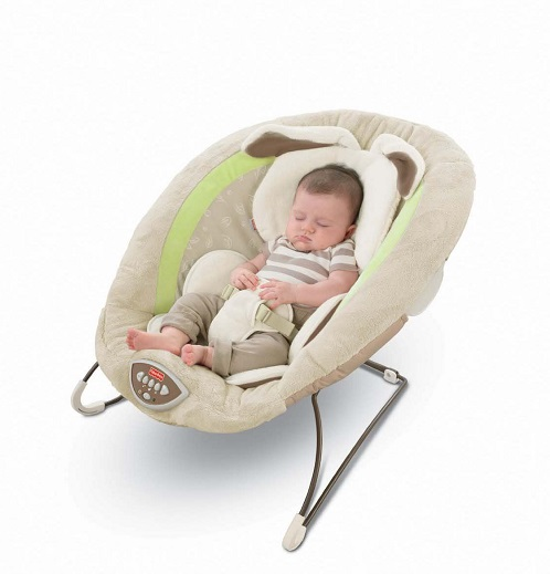Шезлонг баунсер МОЙ МАЛЕНЬКИЙ ЗАЙЧИК Fisher Price Bouncer, My Little Snugabunny