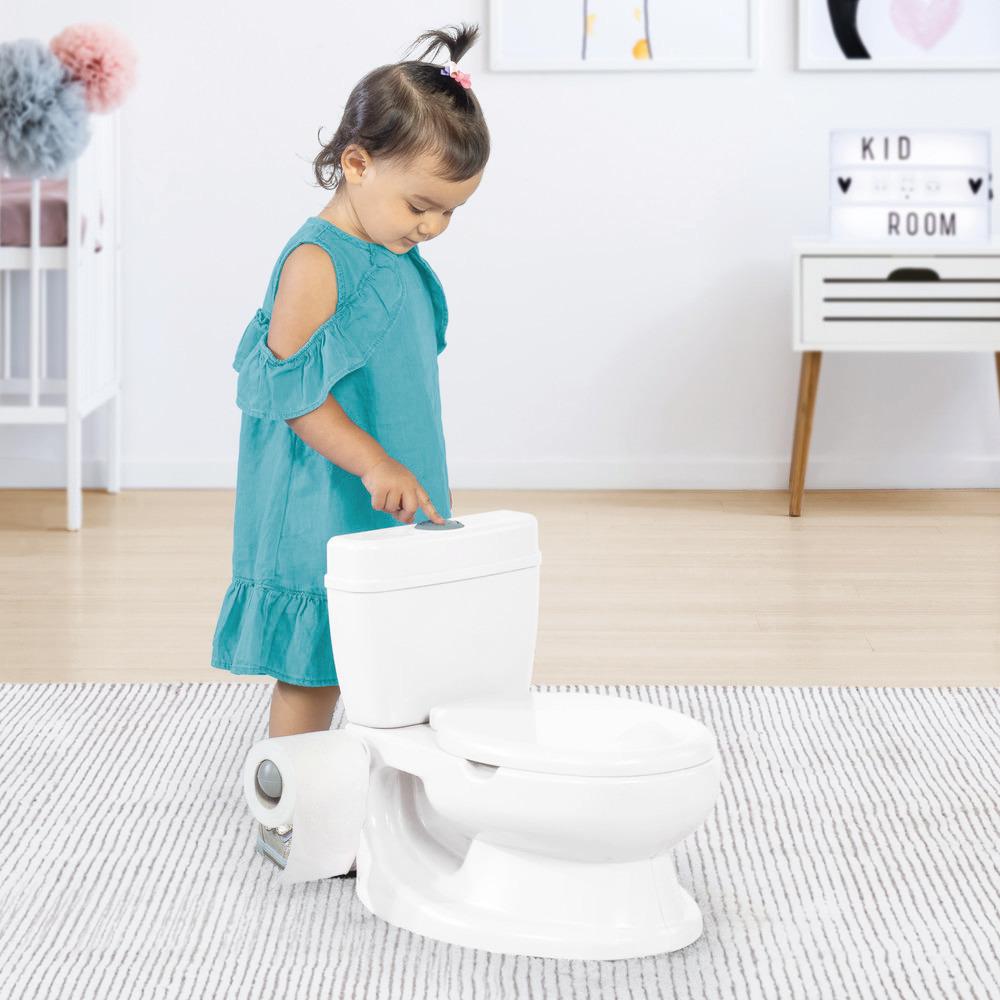 Учебный горшок-унитаз для малыша (белый) Dolu