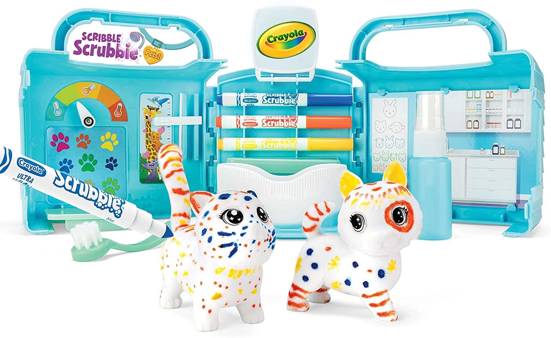 Игровой набор Crayola раскрась питомцев Ветеренарная клиника подарок для ребенка
