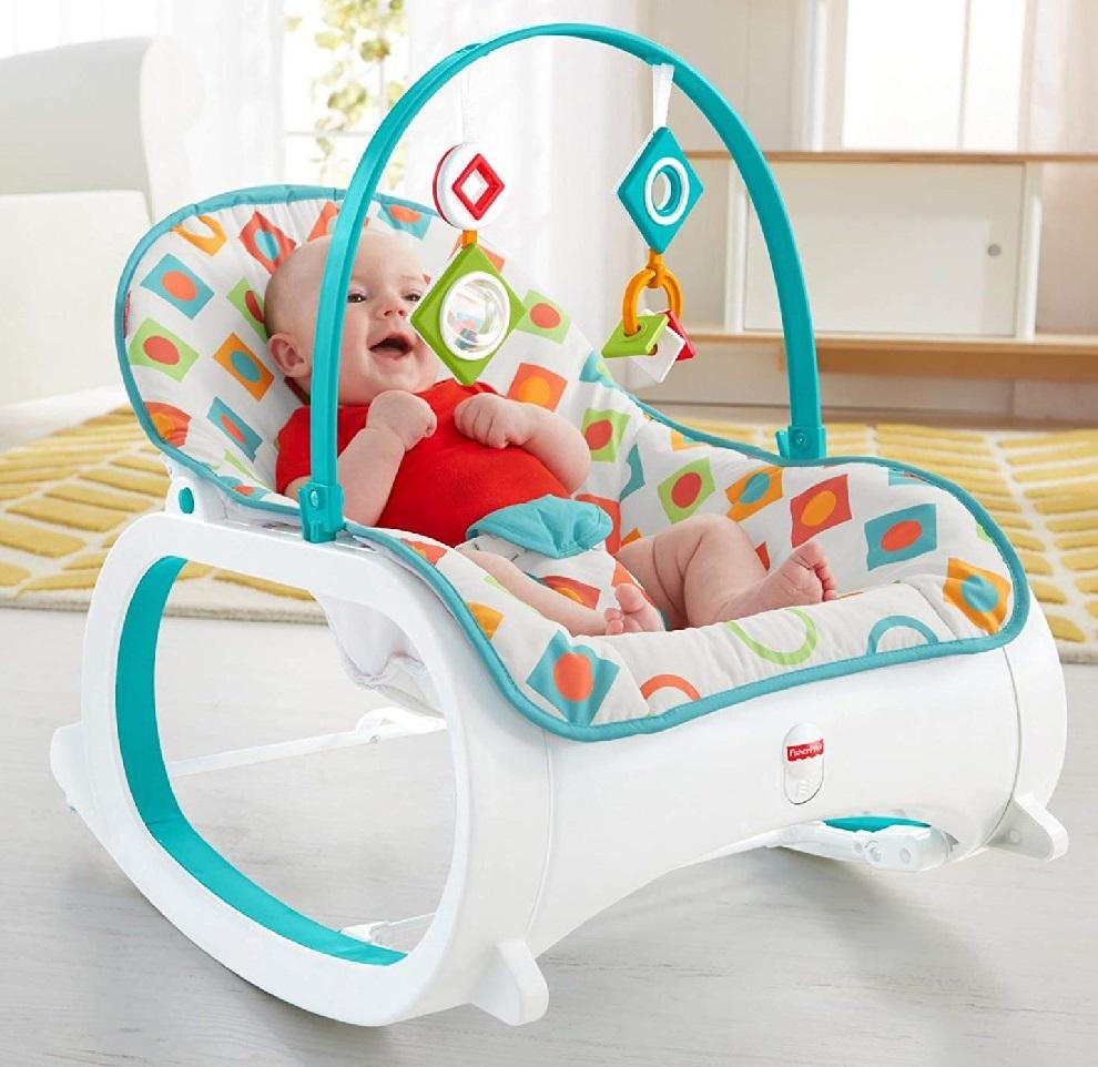 Fisher Price массажное кресло-качели Фишер прайс СИЯЮЩИЙ АЛМАЗ от 0 до 18 кг