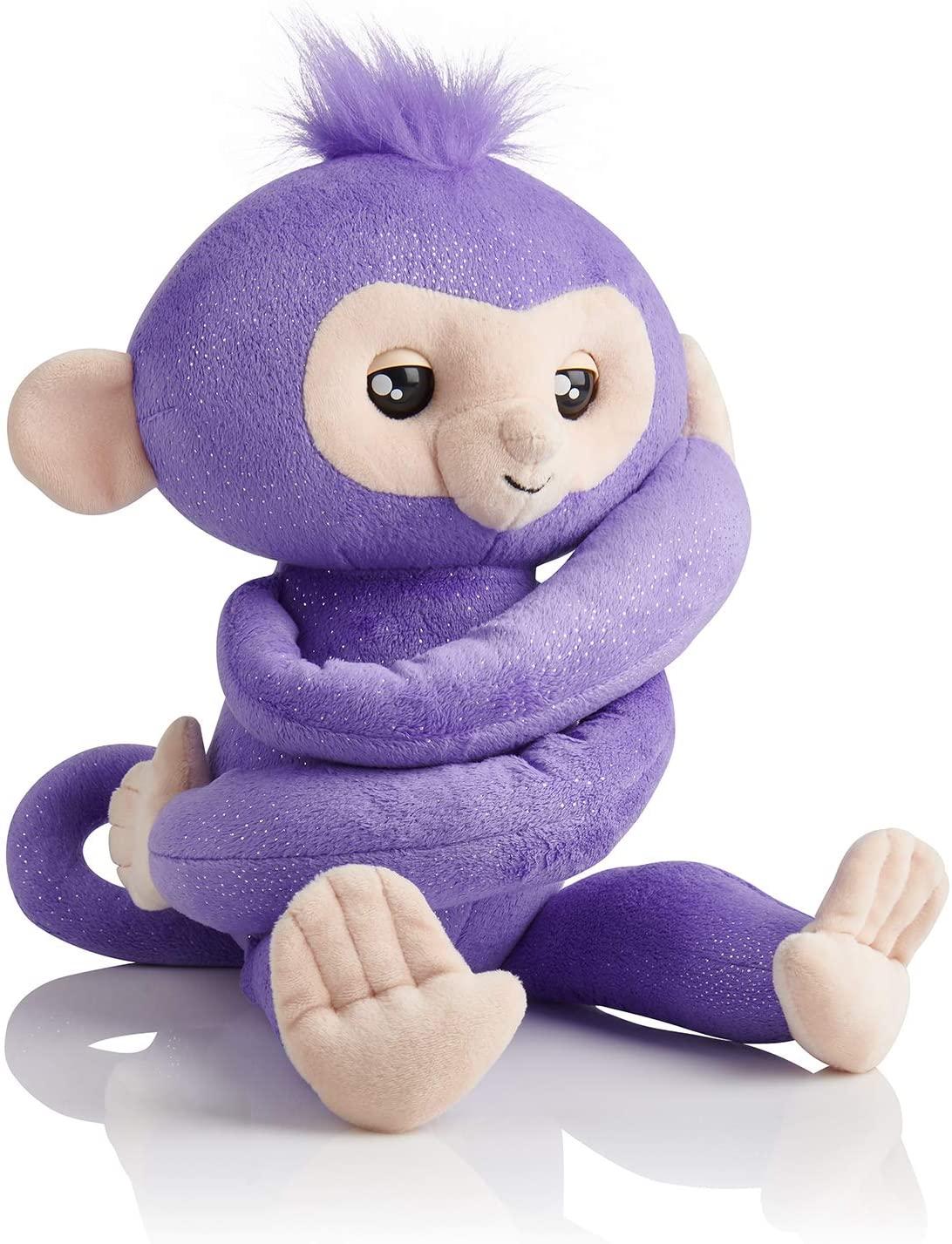 Интерактивная мягкая игрушка WowWee Fingerlings Hugs Обезьянка - обнимашка Оригинал США