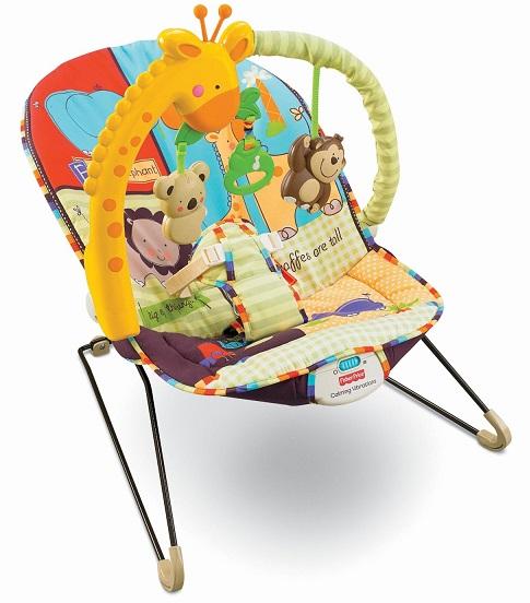 Шезлонг детский Фишер прайс ЛЮБИМЫЙ ЗООПАРК Fisher Price Playtime Bouncer Luv u zoo