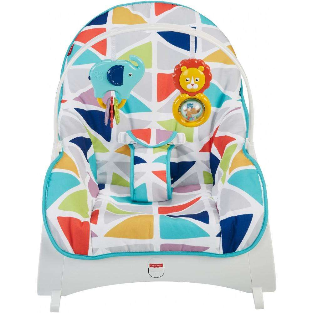 Детское кресло-качели Fisher-Price ЯРКАЯ ВЕРШИНА, от рождения до 3-х лет с массажной вибрацией