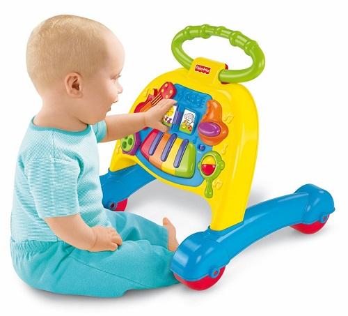 Музыкальные ходунки толкатель с музыкой «Оркестр» Fisher Price Brilliant Basics Musical Activity Walker