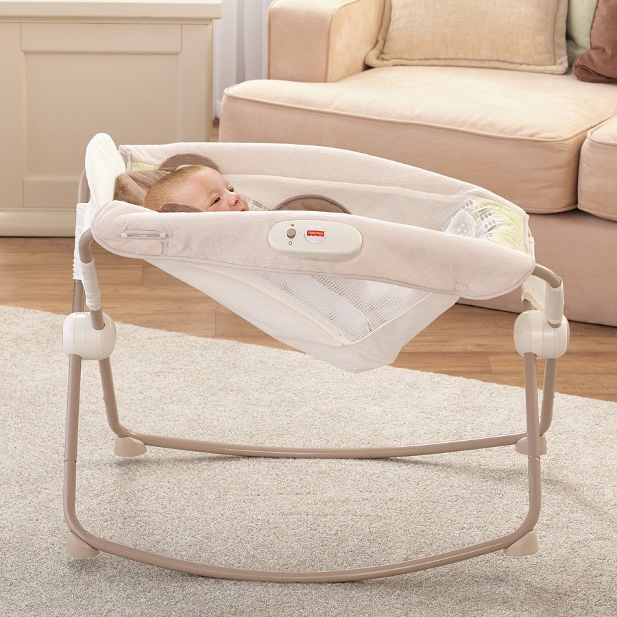 Кроватка, люлька для новорожденного Fisher-Price Deluxe Rock 'n Play Sleeper, Snugamonkey
