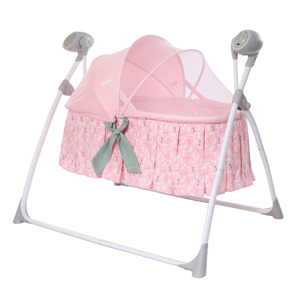Люлька-качалка CARRELLO Dolce CRL-7501 Bow Pink / 1 / MOQ