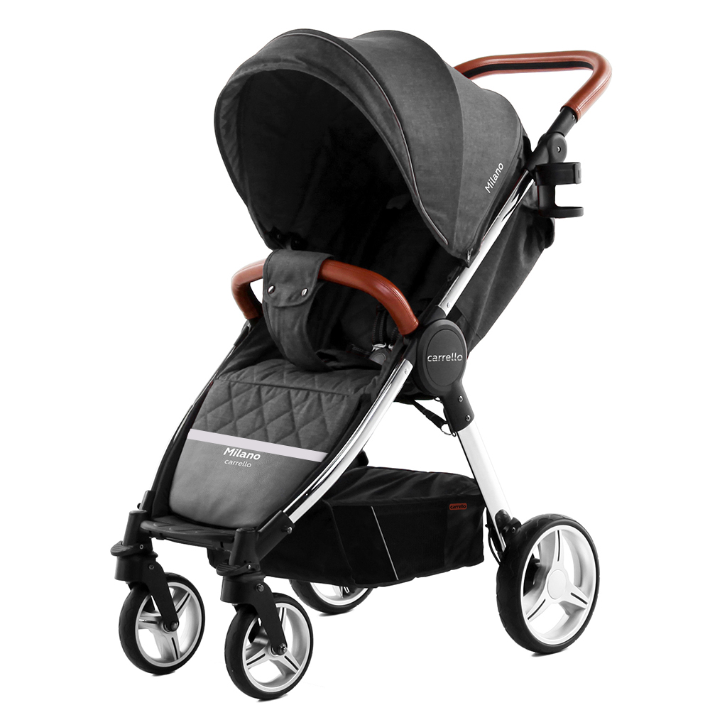 Коляска прогулочная CARRELLO Milano CRL-5501 Solid Grey +дождевик L /1/ MOQ