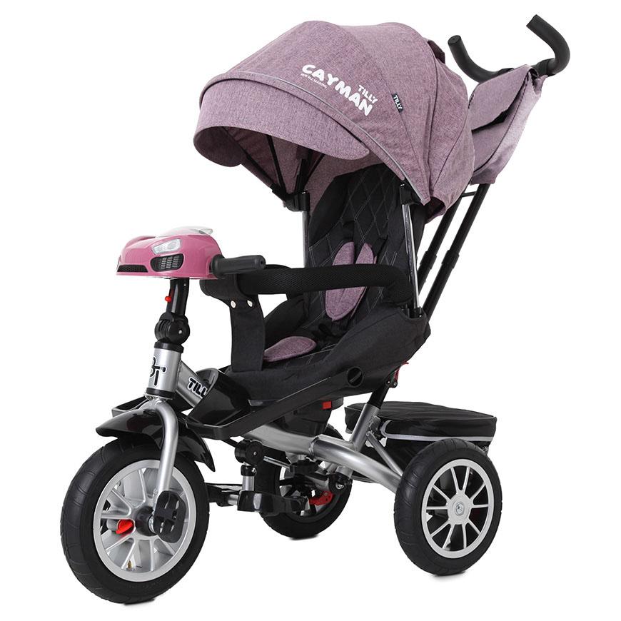 Велосипед триколісний TILLY CAYMAN з пультом і посиленою рамою T-381/5 Фіолетовий льон /1/