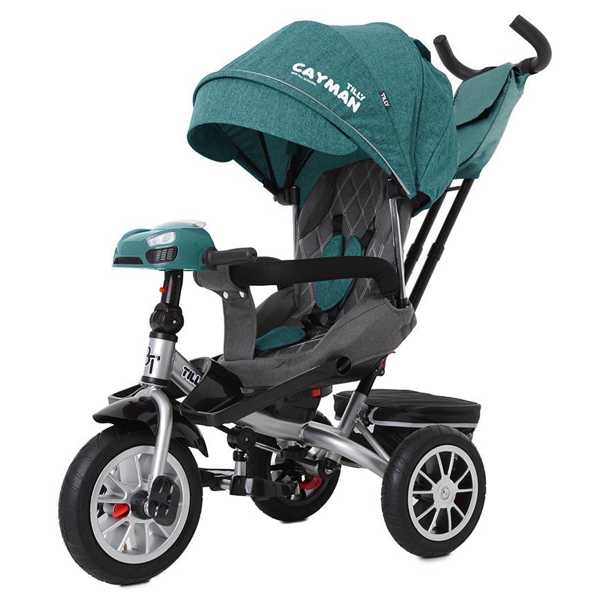 Велосипед триколісний TILLY CAYMAN з пультом і посиленою рамою T-381/5 Зелений льон /1/