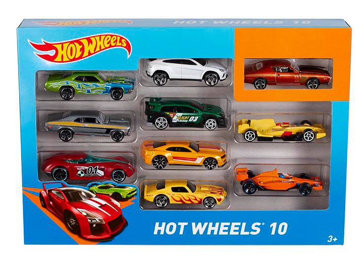 Автомобиль базовый Hot Wheels 10 шт.