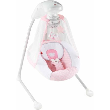 Колыбель – качели Fisher-price Розочка с музыкой и световым проектором Starlight Cradle 'n Swing