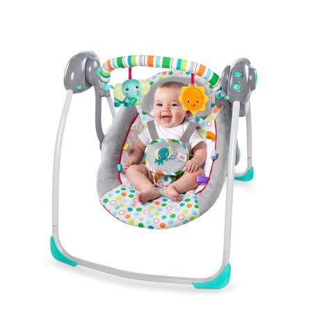 Электронные качели Bright Starts Маленькие Джунгли Брайт Старс Itsy Bitsy Jungle Portable Swing