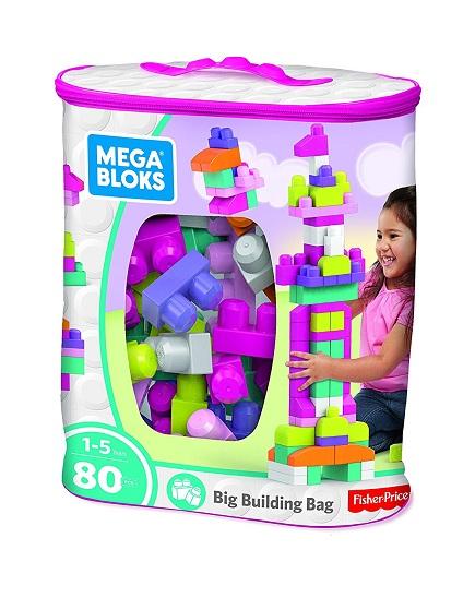 Конструктор Mega Bloks Fisher-Price первые строители Мега Блокс. 80 деталей