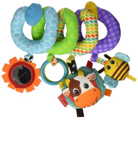 Подвеска-спиралька на кроватку, коляску «Летний луг» Infantino Spiral Activity Toy