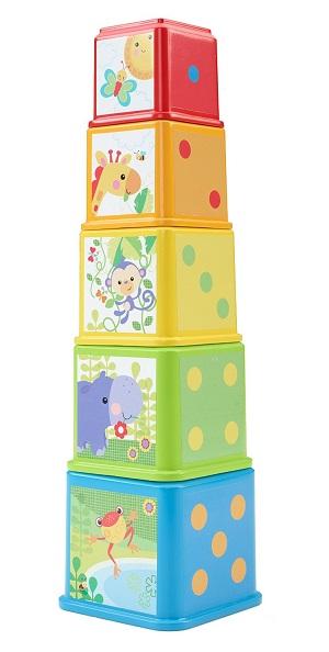 Складывающиеся кубики-пирамидка «Веселые животные» Fisher-Price