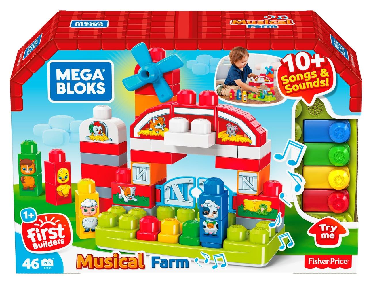 """Конструктор """"Музикальная ферма"""" Mega Bloks"""
