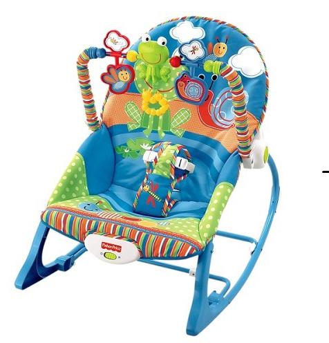 Детское массажное кресло-качели Fisher-Price Улитка
