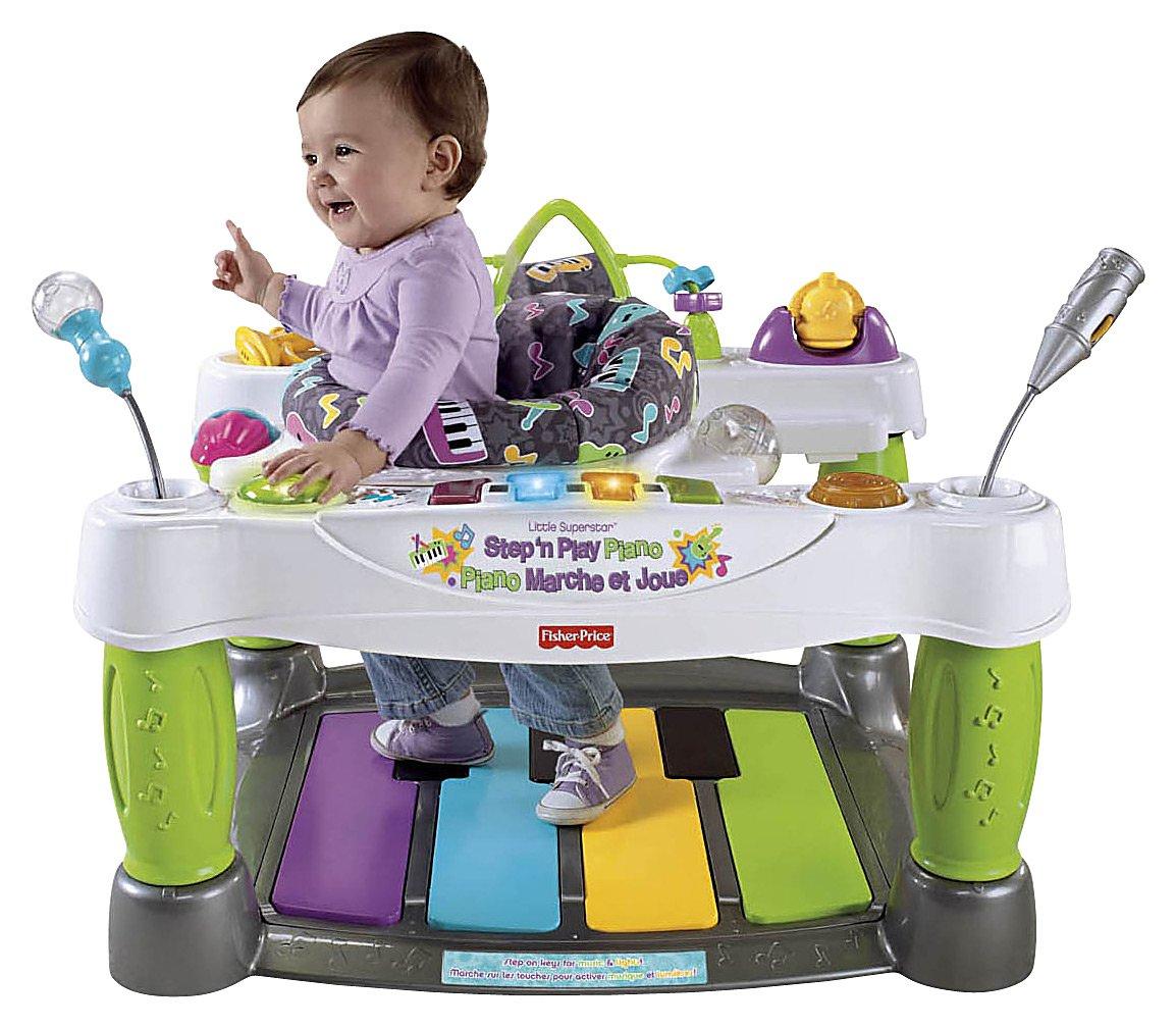 Развивающий центр-ходунки «Маленькая суперзвезда - Шагай и играй на пианино» Fisher-Price Little Superstar Step N' Play Piano