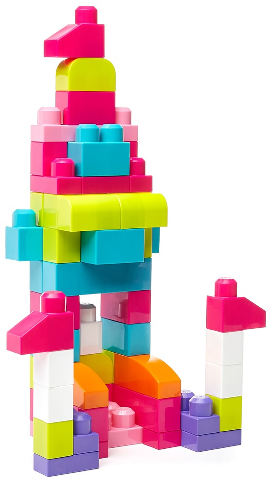 Конструктор розовый в мешке (60 дет.) Mega Bloks