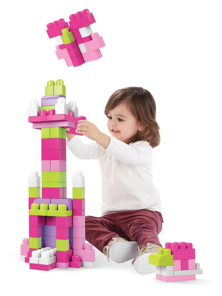 Конструктор розовый в мешке (80 дет.) Mega Bloks