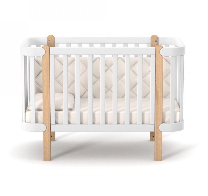 Кроватка детская Монако бело-буковая Верес