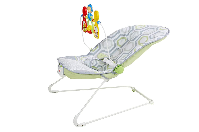 Детский шезлонг Fisher-Price с массажной вибрацией САВАННА от 0 до 1 года