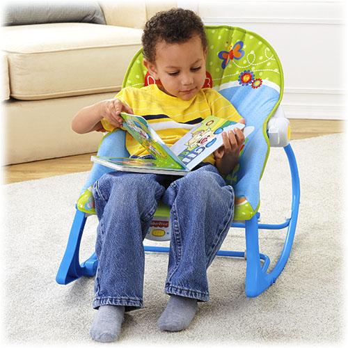 Детское  кресло-качели  Fishe-Price с музыкой и вибрацией СЛОНЕНОК  от 0 до 18 кг